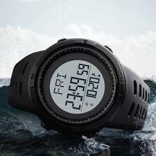 SKMEI Herren Damen Digital Sportuhr Kompass Datum Alarm Wasserdichte Armbanduhr,