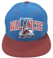Mitchell & Ness Colorado Avalanche Snapback Hat Cap NHL Blue Red Hockey, Mint!!!