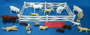 Marx reissued Farm Set (Lassie) Animals, Fence, Figures, troth