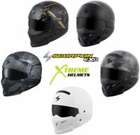Scorpion Covert Helmet Convertible 3-in-1 Half Open Full Face DOT XS-3XL