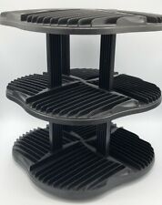 CD Spinning Tower Rack Black Holds 120 CDs