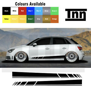 Side Stripe Stickers Graphics Decals For Audi A1 A3 A4 A5 A6 A7 S1 RS1 sport
