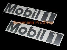 "2x 15"" 38.1cm MOBIL One black decal sticker 1 motor oil DTM porsche vw car audi"