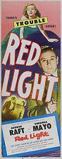 RED LIGHT Movie POSTER 14x36 Insert George Raft Virginia Mayo Gene Lockhart