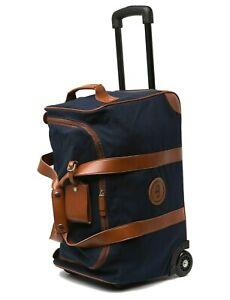 Peter Millar Crown Cotton Canvas Roller Bag Weekend Duffel in Navy Blue