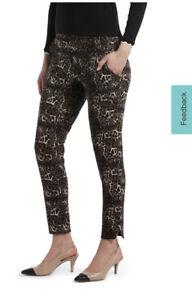 BlackOut Hue Cotton Leggings Cheetah Simply Stretch ~ SZ L (12-14) New w/Tags.