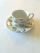 1994 Fitz & Floyd Omnibus 50's Kitchen Coffee Tea Cup & Saucer Habitat Americana