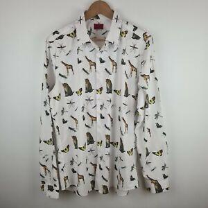 Devils Advocate - Unusual Mens Wildlife Tailored Shirt Animals Safari - Size L
