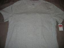 New Nordstrom T-shirt gray striped plain tee cotton/ poly blend  XL NWT