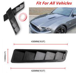 ABS Plastic Carbon Fiber Look Style Hood Vent Louver Cooling Panel Trim Viable