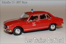 Peugeot 504 TAXI POMPIERS DE TOURS éch HO 1/87 éme BREKINA SAI 2098