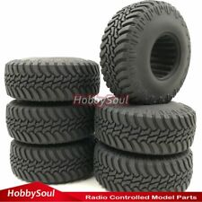 6pc 1/10 RC 1.9 Crawler Tire 114mm Fit Gmade tamiya Axial rc4wd 1.9 Beadlock Rim