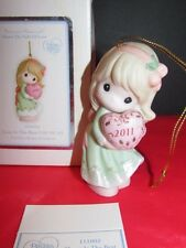 Precious Moments Love Is The Best Gift Of All Ornament 2011 Porcelain Bisque
