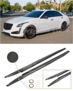 Imper For 14-19 Cadillac CTS   CARBON FIBER Package Side Skirts Rocker Panels