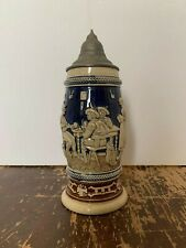 New listing Antique German Lidded Stein Card Players