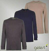 Mens Gelert Long Sleeves Split Hem Top Sueded Crew Sweater Sizes from S to XXXL