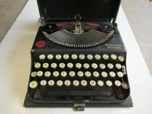 Old VTG Remington Portable Typewriter With Case Model # NV23504