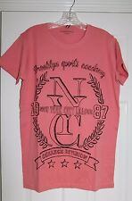 MENS COTTON PRINT T-SHIRTS PEACH SIZE M