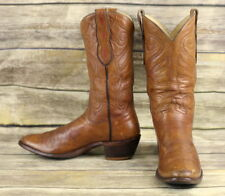Loveless Cowboy Boots Custom Brown Leather Womens 9 Medium Narrow Western VTG