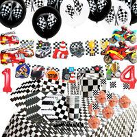 Racing Theme Disposable Tableware Balloon Set Children Birthday Party Supplies E