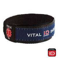 VITAL ID Medical Emergency ICE WRIST BAND - Medical Alert Allergy Contact Info