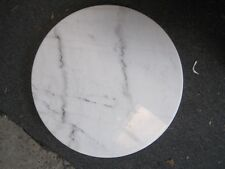 60cm wide Round White Marble Table Top ONLY - Delivered Sydney or freight extra