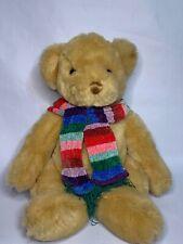 """Commonwealth Soft Plush Teddy Bear Stuffed Animal Toy Rainbow Scarf 17""""2000"""
