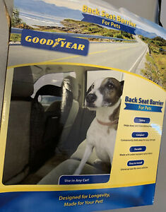 GOODYEAR Pet Net Barrier Between Car Seats 2 Layers  Black/Use In Any Car!
