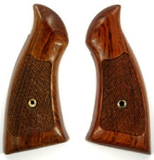 Smith & Wesson Revolvers K & L frame Square butt Solid Rosewood Grips checkered