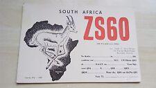 Col Frank C. Elliot-Wilson South Africa ZS60 Caxton, Pta QSL Card FOA5M