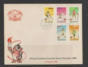 Kenya 1988 Seoul Olympics FDC with insert per scan