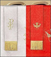 Jacquard Bookmark Reversible Red and White for Church Service NEW SKU LC024