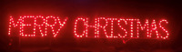 Merry Christmas Xmas Block Sign Outdoor LED Lighted Decoration Steel Wireframe