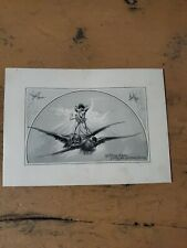 Vntg 1880s John Lowell Lithograph Lithograph Christmas Card