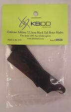 KBDD 4036 72.mm Black Tail Rotor Blades 500 Size Helicopters Qty. 2 NIP