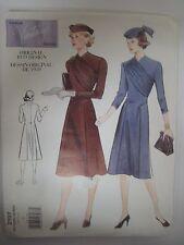 Vintage Reproduction 30's Vogue DRESS w/ DRAPED FRONT Sewing Pattern Women UNCUT