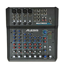 Alesis MultiMix 8 USB FX 8-Channel Mixer w/ Effects / USB Audio Interface +Picks