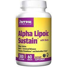 Alfa lipoico Sustain 300, con Biotina (300mg) - 60 Tabletas-Jarrow