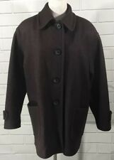 MDP Mario De Pinto Brown Wool Blend Lined Peacoat Jacket Coat Button Front Warm