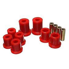 Energy Suspension 8.3128R Control Arm Bushing Set Red Front Perf Polyurethane