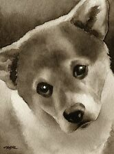 Welsh Corgi Puppy note cards by watercolor artist Dj Rogers