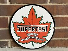 Supertest Canada Gasoline Gas Oil gasoline round metal  sign