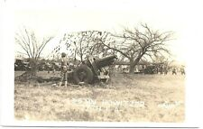 RPPC  155 MM Howitzer of the 77th Filed Artillery  c1935  Oklahoma or Texas