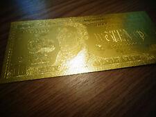 24 KARAT 99.9% GOLD US 2009 $ 10 DOLLAR BILL*MINT -COMES IN RIGID PLASTIC HOLDER