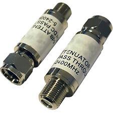 - 6db f-connecteur de type en-ligne atténuateur adaptateur – volume/réduction du bruit coaxial