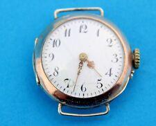 Antike Taschenuhr umgearbeitet als Armbanduhr 800 Silber pocket watch 30,5 mm
