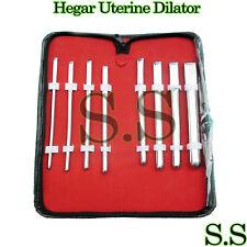Hegar Uterine Dilator Sounds Single Ended set of 8 pcs.