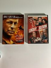 Die Hard 4 Disc Collection Dvd Set Plus 00006000  Lucky #Slevin With Bruce Willis