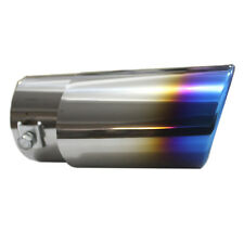 Slant Burnt Blue Titanium Car Stainless Steel Exhaust Mufflers Tail Pipe New LWC