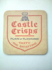 Vintage CASTLE CRISPS   - Cat No'??  Beermat / Coaster